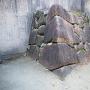 発掘された表書院の石垣