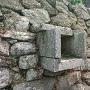 築城時から残る排水口