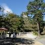 夏の高知城。朝なのにクラクラ。