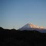 本曲輪から見る早朝の富士