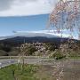 二本松城登城道からの安達太良山の遠望