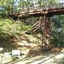 大堀切に架かる木橋