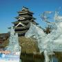 氷の武将と松本城
