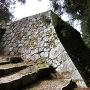 本丸埋門西脇の納戸櫓跡の石垣