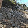 本丸跡石垣の排水口