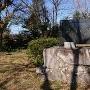 山頂に有る城跡石碑