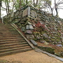 冬の弓櫓跡石垣(2)