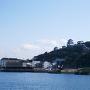 観光案内所からみる平戸城。