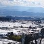 真田氏本城から見る真田の郷、上田市街
