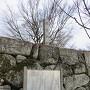 案内板と城址碑