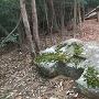 古代山城の門の築石