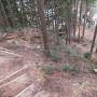 曲輪2へ直接登る登城道