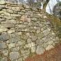 本丸大石段下の鎬角