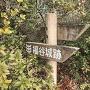 道案内板(城跡への道)