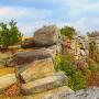 鬼ノ城のクライマックス-屏風折れの石垣