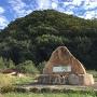 宇喜多直家「国とりはじまりの地」碑と城山全景
