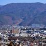 展望台から松本城を望む