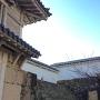 菱の門、背面側の石階段