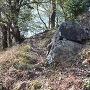 残された石垣