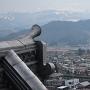 屋根瓦と蔵王連峰(天守閣展望台から)