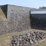 石垣の崩落跡
