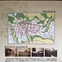 亀山城全体図の案内板