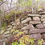 Ⅰ郭(山頂曲輪)東側の石垣