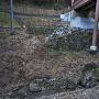 曳橋の下の石垣、大手道側