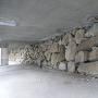 幼稚園下の石垣