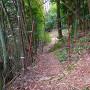 登城口にある手動式の柵