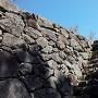 八代城 九間櫓跡 石垣と石段
