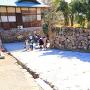 樅の丸東面と道具櫓跡の石垣