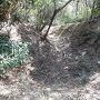 井楼曲輪下の横堀