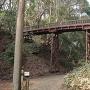 中の丸と本丸の堀切に架かる引橋