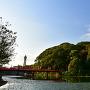 茶臼山、和気橋と通天閣