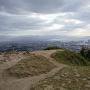 山頂から博多市街を遠望