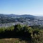本丸跡から太宰府市街を遠望
