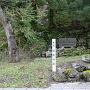 古道入口と城址碑