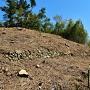 石積とおぼしき石列と土塁らしき地形