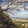 中の丸から多摩川と秋川の合流地点を望む
