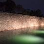 内堀と本丸石垣(桜まつりライトアップ)