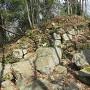本丸南西隅の石垣跡