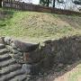 西櫓台の石垣と石段