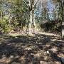 池田丸の土塁と石垣
