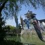 模擬天守と鯉のぼり