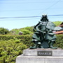 毛利元就銅像