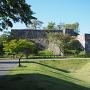 石垣・空堀、小峰城歴史館付近から