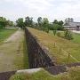 本丸西側土塁石垣