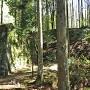 岩村城 畳橋がかかっていた石垣