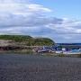 チャシと漁港